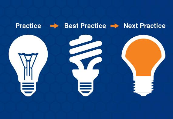 Practice->Best Practice->Next Practice