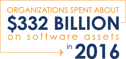 Organizations Spent $332 Billion on software assets in 2016