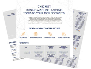 Bringing Machine Learning Tools to Your Ecosystem Checklist Preview