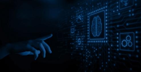 SIEM Integration Background Image Human Finger Touching Machine Brain