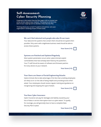 Self Assessment: Cyber Security Planning